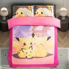 image of pink pokemon bedding twin
