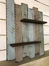 rustic coastal wall shelf nautical