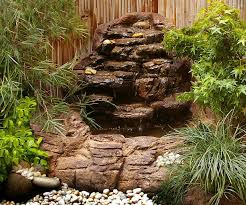 Small Picture Small Backyard Corner Pond Waterfall Kit Garden Patio Waterfalls