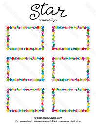 Name Badge Template 6 Per Sheet Fresh Printable Glitter Name Tags