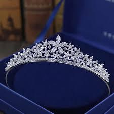 <b>SLBRIDAL</b> Vintage Prong Setting <b>Clear</b> Cubic Zircon Wedding Tiara ...
