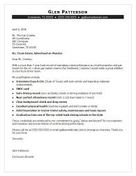 Payment History Letter Template Truck Driver Cover Letter Sample Monster Com