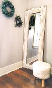 Full lenght mirror White Image Etsy Full Length Mirror White Wash Floor Mirror White Distressed Etsy