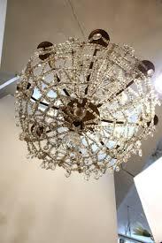 antique austrian rock crystal chandelier bottom