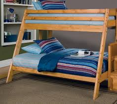 wrangle hill twin over full bunk bed with built in ladder