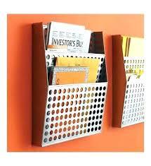 wall mounted file folder holder wall file folder metal wall file organizer in wall mount file
