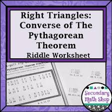 Right Triangles - Converse Of The Pythagorean Theorem Riddle ...