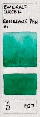 green watercolour swatches jane