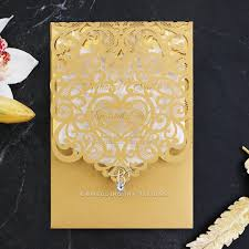 Baroque Wedding Invitations Magnificently Baroque Laser Cut And Gold Foil Stamped