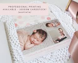Print Baby Announcement Cards Baby Photo Birth Announcement Card Professionally Printed Baby Thank You Boy And Girl Free Colour Changes Peach Perfect Australia