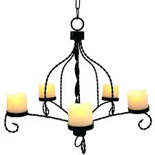 flameless candle chandelier wilson and fisher led