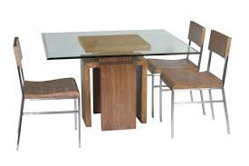 glass dining table base. Furniture. Square Glass Dining Table With Brown Wooden Bases Connected By Chairs Base G