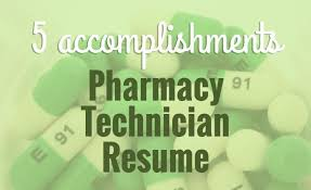 5 Accomplishments To Make Your Pharmacy Tech Resume Stand Out ...
