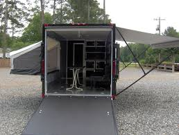 enclosed motorcycle cargo trailer toy hauler a c work and play vrv