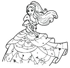 Coloring Pages Barbie Coloring Pages Free To Print Out Printable