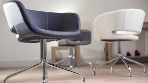 high quality faux leather swivel dining chairs