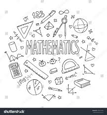 Maths Cover Design Hand Drawn Vector School Set Mathematics Can Be Used For