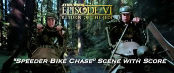 star wars vi return of the jedi speeder bike chase scene star wars vi return of the jedi speeder bike chase scene score