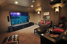 Living Room Design With Brown Leather Sofa Living Room Theater Smart Living Room Theater Decor Ideas Living