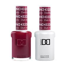 Dnd Duo Color Chart Dnd 432 Daisy Gel Lacquer Duo Dark Scarlet