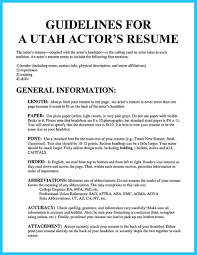 Learning To Write An Audition Resume Writing An Acting Resume