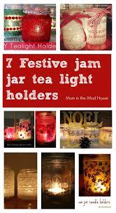 Decorating Jam Jars For Candles Festive Jam Jar Candle Holders Lantern Tea Light Holders Tea 70