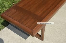 pro refinished lane long coffee table mid century danish modern