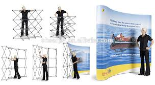 Folding Exhibition Display Stands Trade Show Folding Booth Pop Up Banner Exhibition Display Stand 2