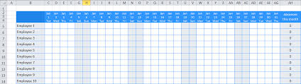 Excel Staff Holiday Planner The Ultimate Template