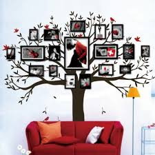 write your review tree photos decal family photo tree wall