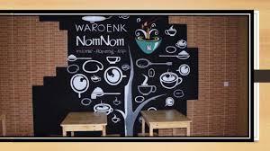 Gambar Wallpaper 3d Cafe Mural Art Hitam Putih Cafe