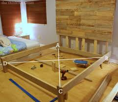how to build a custom king bed frame via thinkingcloset com squaring it up