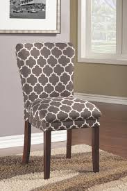 gallery of nailhead linen upholstered chairs farmhouse dining room new dream cloth intended for 16 grey fabric