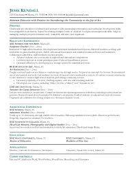 Art Resume Format Example Art Teacher Resume Free Sample Art