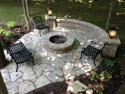 salt lake flagstone patio with fire pit sitting wall traditional patio