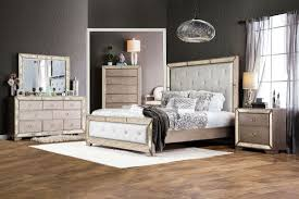 Furniture Of America Loraine Bedroom Set In Silver Finish