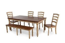 Six Piece Rectangle Extension 78 Dining Set in Wheat
