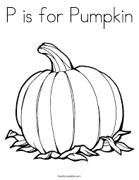 Small Picture P is for Pumpkin Coloring Page Twisty Noodle