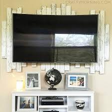 wood pallet framed backdrop for tv