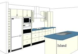 One Wall Kitchen Designs With An Island Plans Simple Decoration