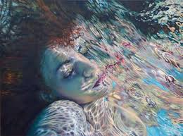 oil paintings of women submerged in water are a ripple of colours creative boom