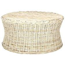 round woven coffee table woven round coffee table ottoman