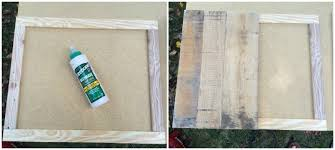 pallet picture frame holder. do this by laying out one frame face down as shown on the upper left. add your wood glue around exterior, then place pallet picture holder