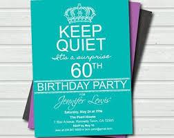 Surprise 60th Birthday Invitation Templates Free Google Search