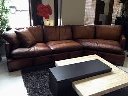 brown leather sofa with chaise futura leather westbury
