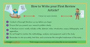 how to write a good literature review