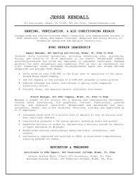 Hvac Resume Objective 7 Technician Sample Techtrontechnologies Com