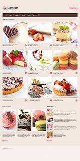Website Templates Lamour Cafe Cake Cakes Sweet Custom Website