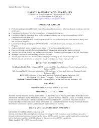 Nurse Resume Objectives Samples Registered Example New Grad Nursing