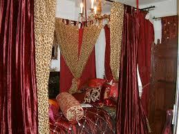 red satin and velvet